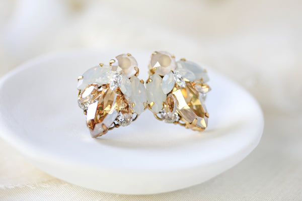 Swarovski crystal stud bridal earrings - ARABELLE - Treasures by Agnes