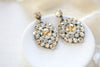 Swarovski crystal vintage style bridal earrings - CHLOE - Treasures by Agnes