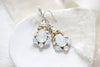 White opal Teardrop Bridal earrings - KARISSA - Treasures by Agnes
