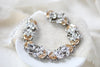 Swarovski crystal Vintage style Wedding bracelet - EDEN - Treasures by Agnes