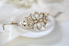 Swarovski crystal Antique gold Bridal bracelet - MADELYNN - Treasures by Agnes