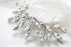 Swarovski crystal bridal hair comb headpiece - FALLON - Treasures by Agnes