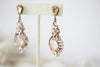 Antique gold Swarovski chandelier earrings- LELAND  - Treasures by Agnes