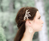 Swarovski white opal leaf bridal hair comb- TAMARA - Treasures by Agnes