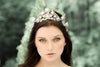 Swarovski white opal leaf bridal tiara - ASHLEY - Treasures by Agnes