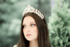 Rose gold Swarovski crystal tiara crown - CARTER - Treasures by Agnes
