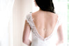 Delicate crystal Bridal backdrop necklace - GIGI - Treasures by Agnes