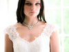 Swarovski white opal statement bridal necklace - JOELLE