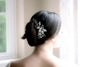 Swarovski crystal floral hair comb with freshwater pearls - AMINA - Treasures by Agnes