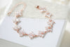 Rose gold crystal bridal bracelet - EMMA - Treasures by Agnes
