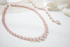 Rose gold statement backdrop necklace for bride - AUBREE - Treasures by Agnes
