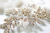 Antique gold Swarovski crystal Bridal hair comb headpiece - GABRIELLA