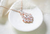 Rose gold cubic zirconia Bridal necklace - KATERI - Treasures by Agnes