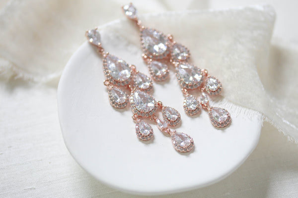 Silver Teardrop Chandelier earrings - Treasures by Agnes