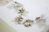 Antique gold Swarovski crystal Bridal hair vine - ELENA - Treasures by Agnes