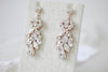 Vintage style Swarovski Crystal bridal earrings with white opal accents - BIANCA - Treasures by Agnes