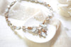 Swarovski crystal statement necklace with white opal accents- JOELLE - Treasures by Agnes