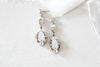 Antique silver Swarovski crystal Bridal earrings - SKYLAR - Treasures by Agnes