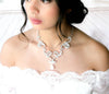 Swarovski white opal crystal Bridal necklace - CATALINA - Treasures by Agnes