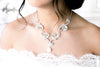 Swarovski white opal crystal Bridal necklace - Treasures by Agnes