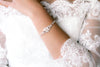 Rose gold Art Deco cubic zirconia Bridal bracelet - EMMA - Treasures by Agnes