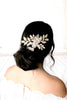 Antique gold Swarovski crystal Bridal hair comb headpiece - Treasures by Agnes