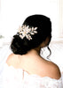 Antique gold Swarovski crystal Bridal hair comb headpiece - GABRIELLA - Treasures by Agnes