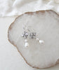 Swarovski Crystal and pearl drop Vintage style Bridal earrings - ALYSON - Treasures by Agnes