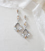 Long Swarovski crystal Statement Bridal chandelier earrings - QUINN - Treasures by Agnes