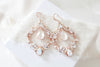 Antique gold Bridal Statement Chandelier earrings with Swarovski crystals - CHARLOTTE - Treasures by Agnes