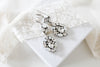 Modern Vintage Swarovski crystal Bridal Chandelier earrings - MADELINE - Treasures by Agnes