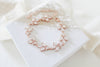 Rose gold Cubic Zirconia Bridal bracelet Leaf style - DIVINE - Treasures by Agnes