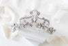 Swarovski crystal white opal Bridal tiara crown - CATALINA - Treasures by Agnes