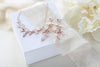 Rose gold Cubic Zirconia Bridal necklace and earring set - APRILLE - Treasures by Agnes