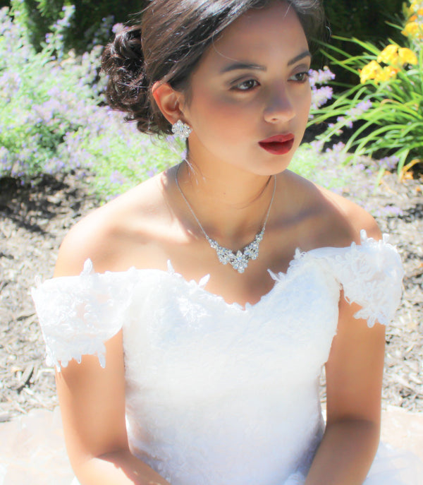 Vintage Bridal necklace with Swarovski crystals - Treasures by Agnes
