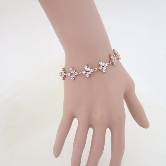 Rose gold crystal bracelet - Treasures by Agnes