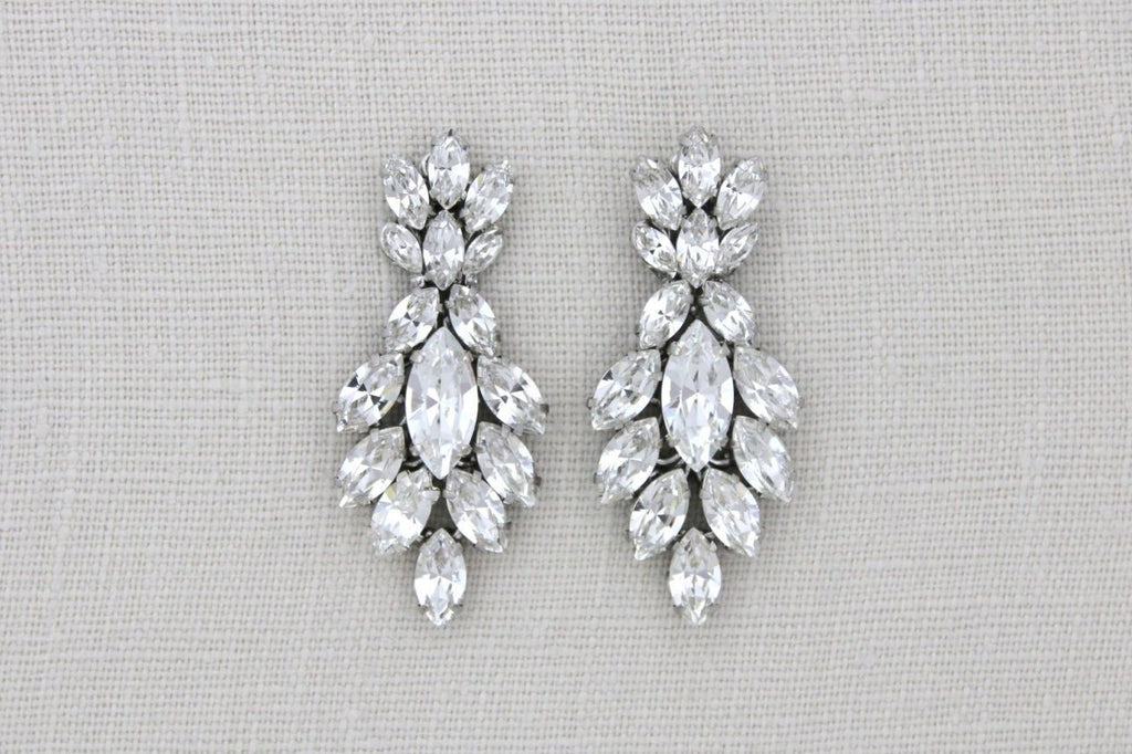 Swarovski Crystal cluster Bridal earrings - ELLA - Treasures by Agnes