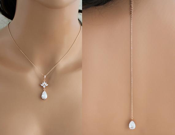 eb5a037e232d Simple Rose gold Back necklace