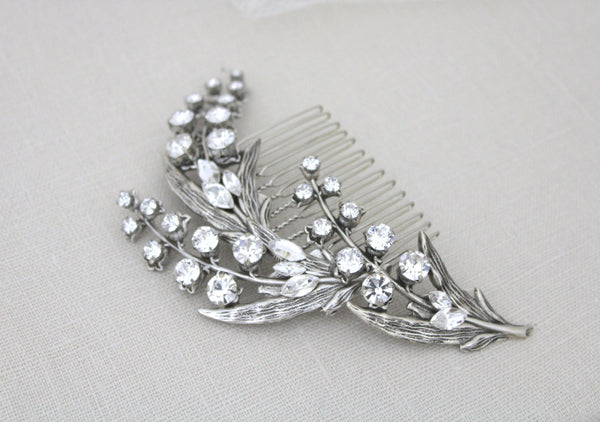 Lily of the Valley Bridal hair comb