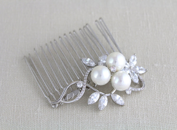 Rose gold Bridal hair comb - Treasures by Agnes