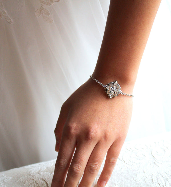 Simple Swarovski Crystal Bridal or Bridesmaid bracelet - Treasures by Agnes