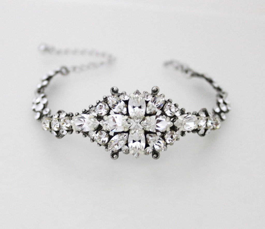 Swarovski Crystal Bridal bracelet - Treasures by Agnes