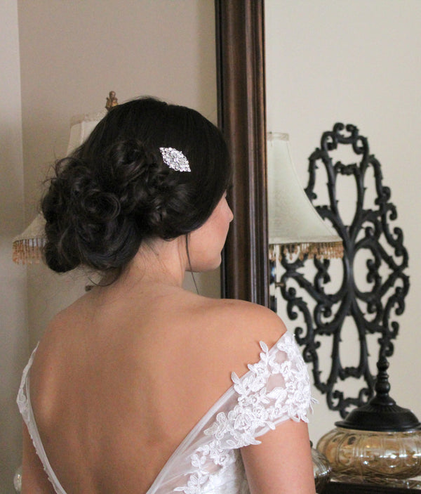 Swarovski crystal Bridal hair comb - Treasures by Agnes