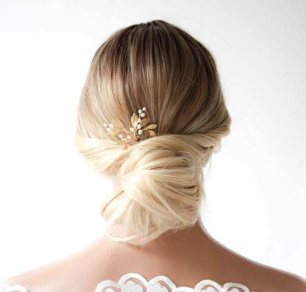 Pearl Bridal hair pins - CAMERON