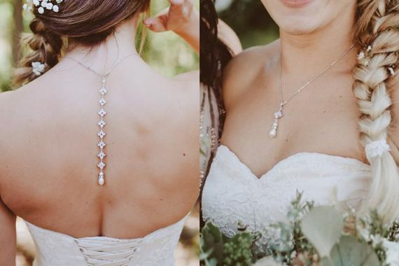 Simple rose gold backdrop necklace - EMMA - Treasures by Agnes