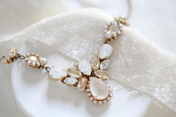 Swarovski crystal vintage inspired Wedding necklace - BAILEY