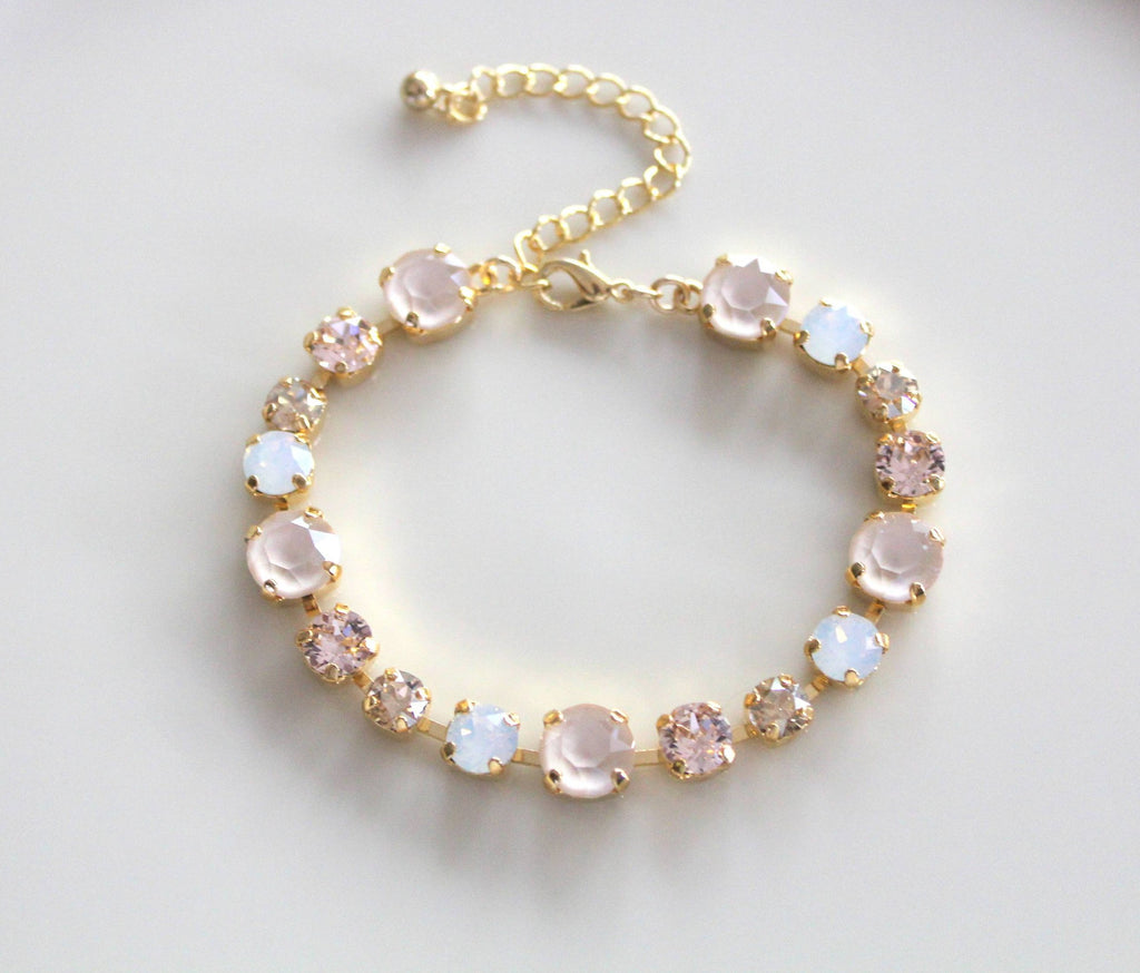 Swarovski white opal and ivory cream bridal bracelet - JULIANNA - Treasures by Agnes