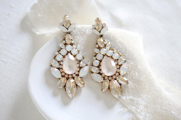 Swarovski Chandelier Wedding earrings - BEVERLY