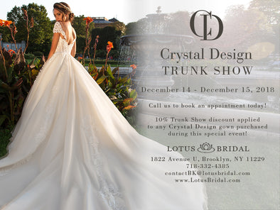 Crystal Design Trunk Show at Lotus Bridal