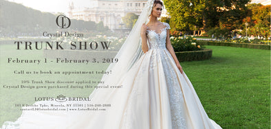 Crystal Design Bridal Trunk Show - Feb 1st to 3rd
